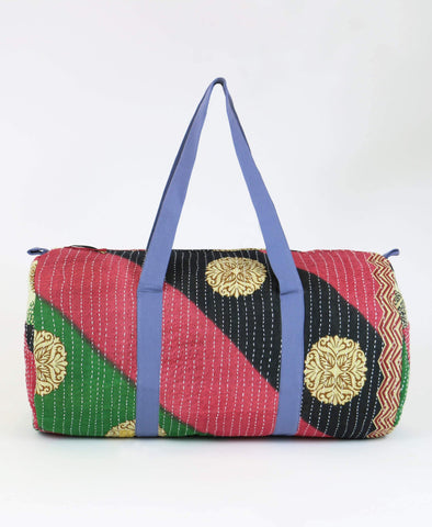 Weekender Travel Bag - Crimson Stripes | Anchal Project