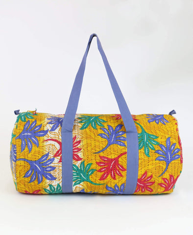 Weekender Travel Bag - Golden Tropical | Anchal Project