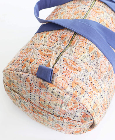 Weekender Travel Bag - Peach Paisley | Anchal Project