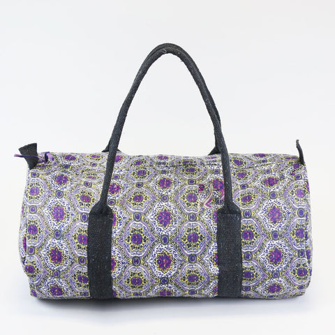 Weekender Travel Bag - Purple Medallions | Anchal Project