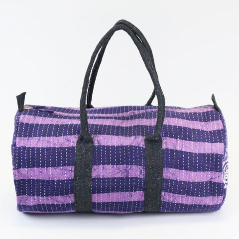Weekender Travel Bag - Purple Stripes | Anchal Project