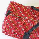 Weekender Travel Bag - Red Flower | Anchal Project