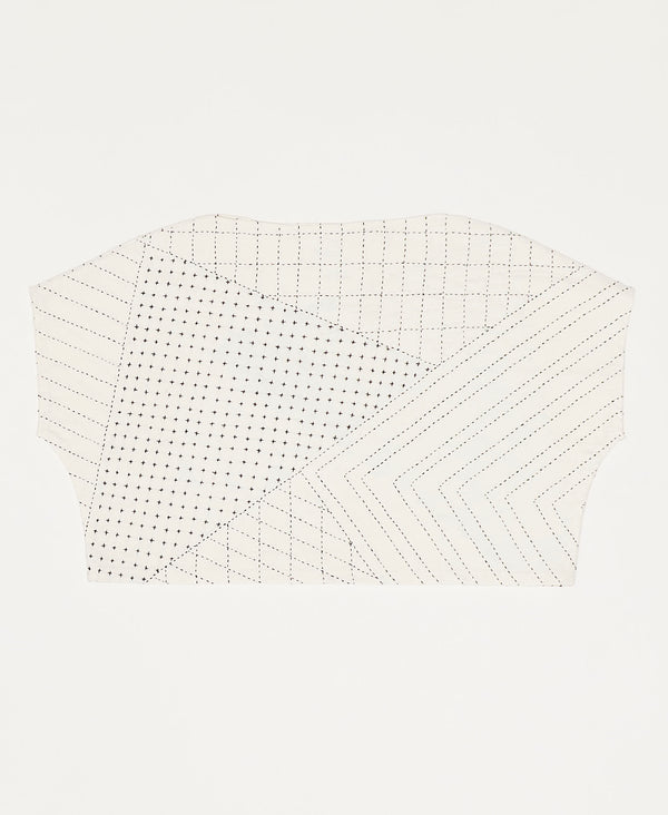 sustainable crop top with modern geometric design by Anchal Project