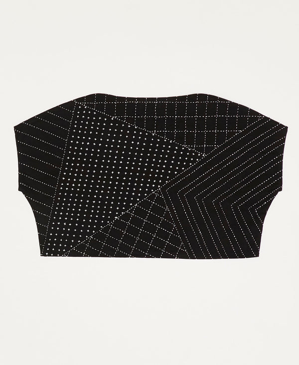 structured crop top with minimalist design sustainable fashion