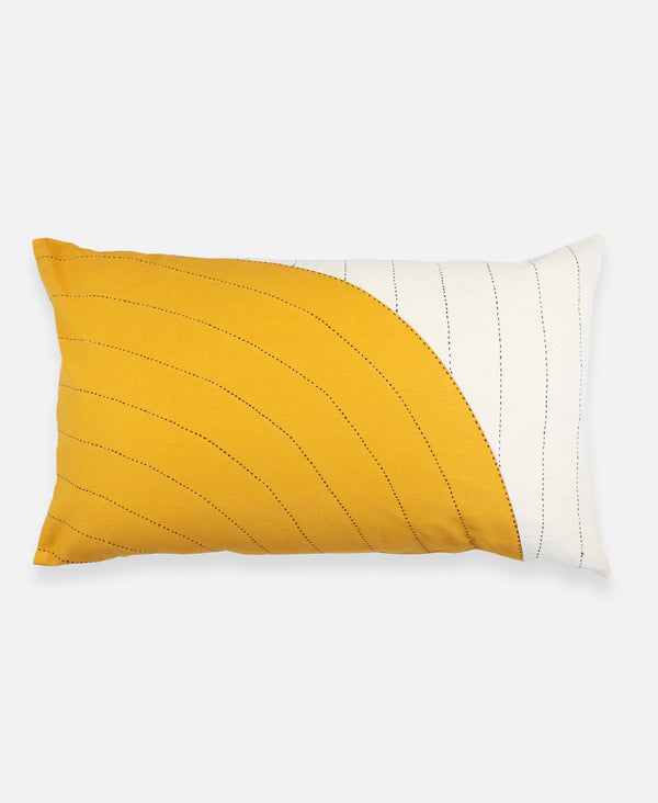 Anchal Project organic cotton mustard lumbar throw pillow