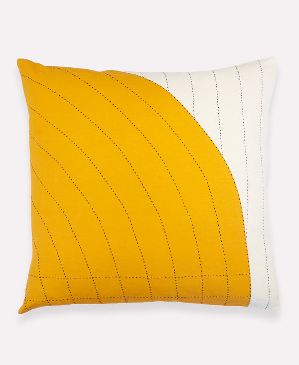 Anchal Project mustard yellow curve throw pillow