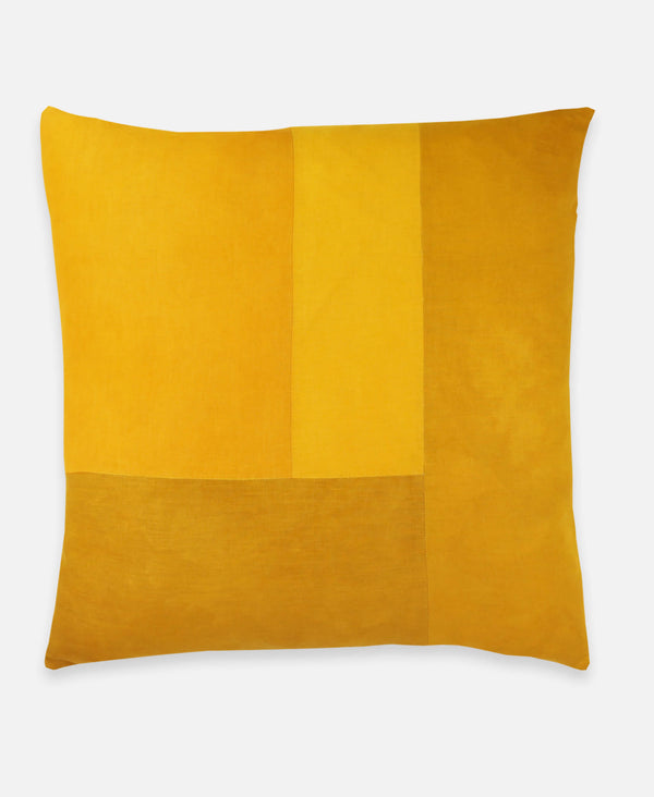 Anchal Project naturally dyed colorblock linen pillow