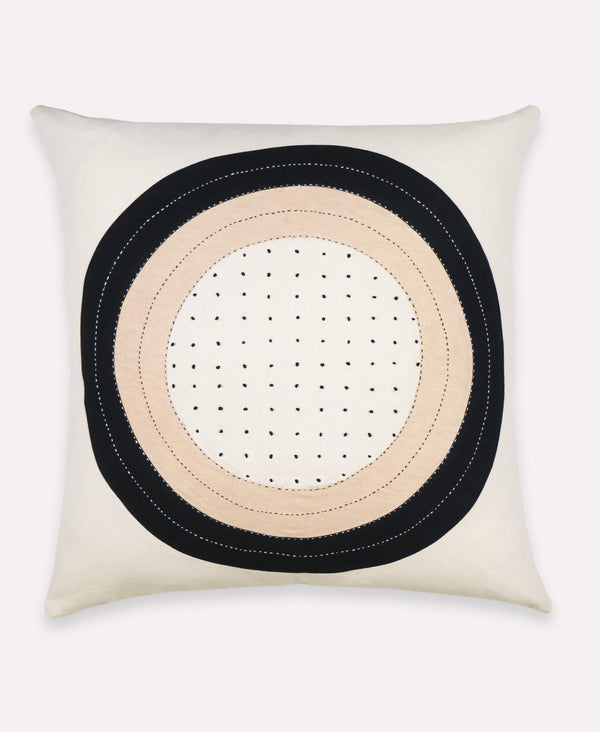 Anchal Project eclipse dot throw pillow handmade by Anchal artisans