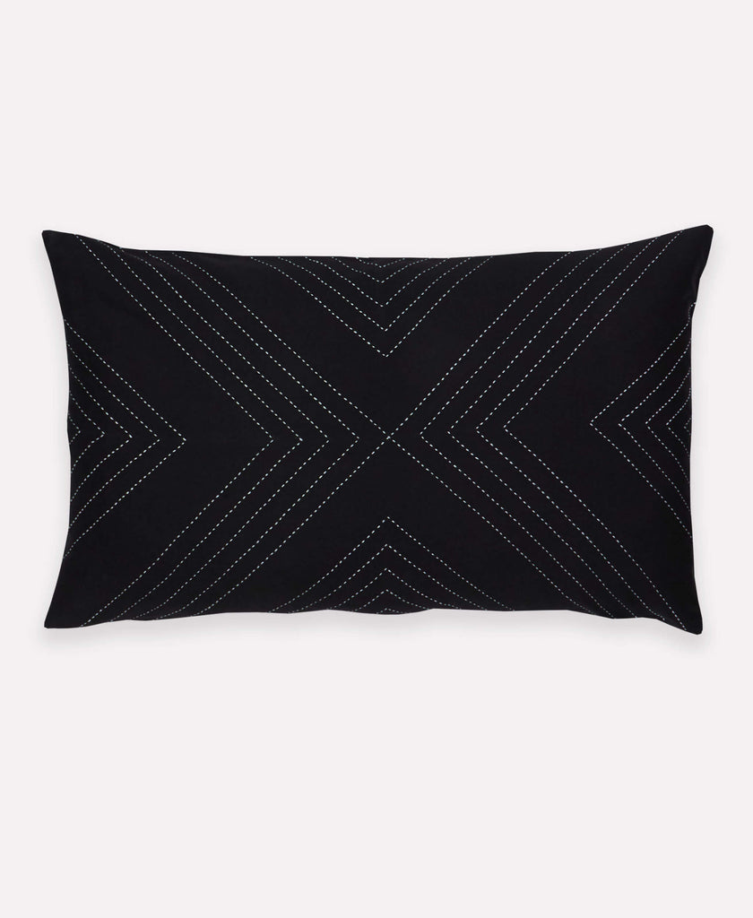 Fair trade certified Geometric Lumbar Pillow handmade in India