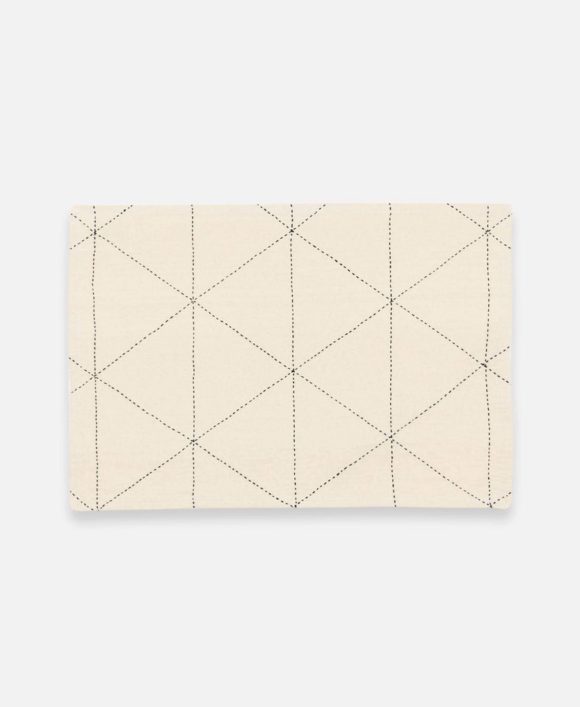 ivory placemat set with graph design made from organic cotton