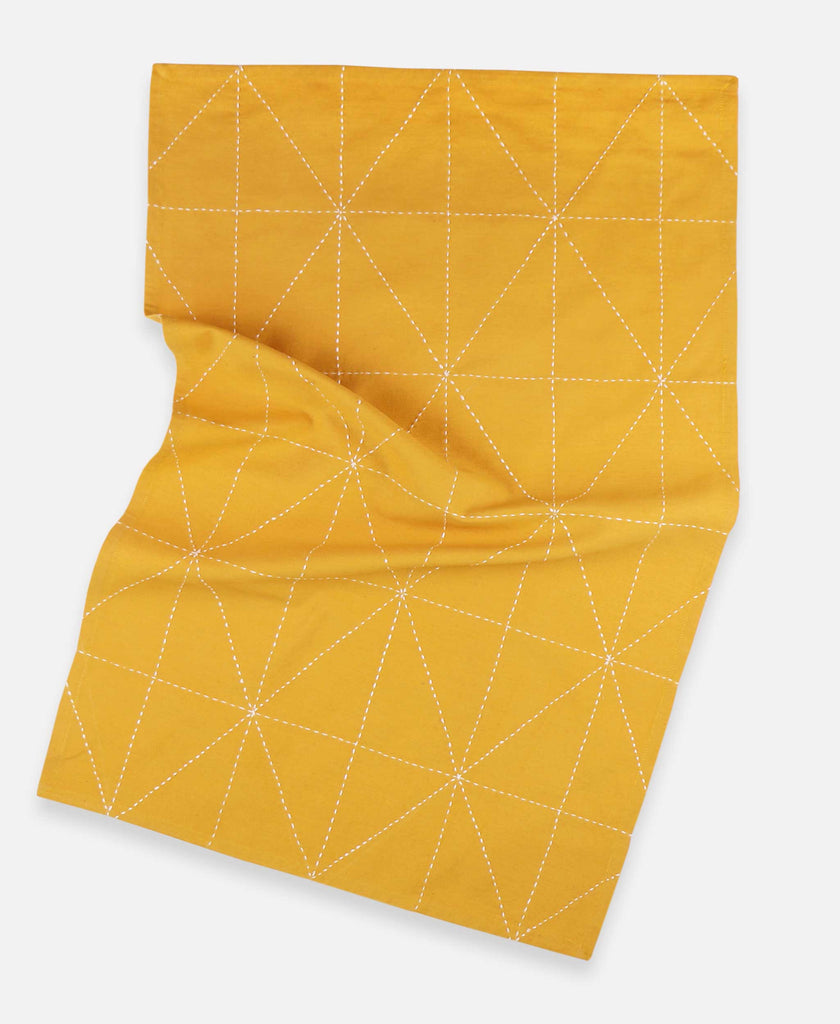 mustard yellow organic cotton tea towel