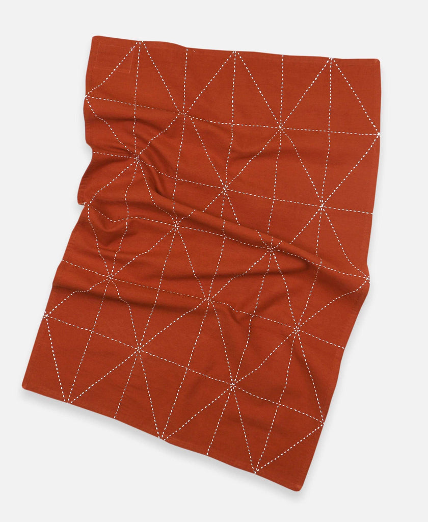 Anchal rust-orange tea towel made from organic cotton