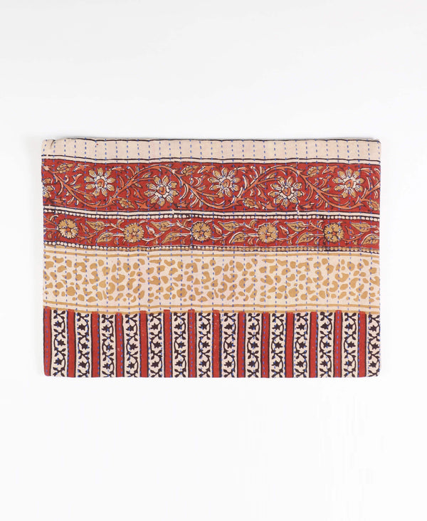 ethically made laptop sleeve made from vintage cotton saris