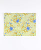 ethically made yellow and blue floral laptop sleeve made from vintage cotton saris