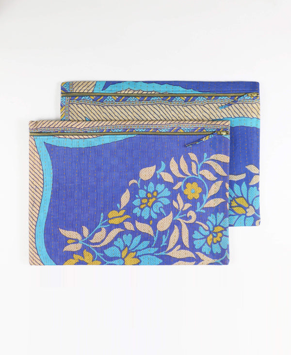 Oversized Kantha Pouch Clutch - No. 190521