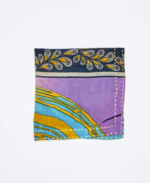 multicolored mens pocket square handmade by Anchal Artisans