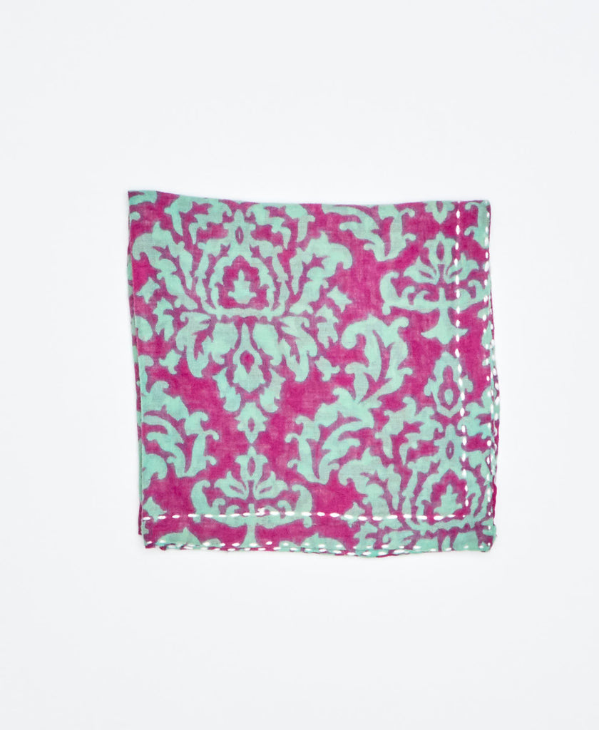 purple and blue cotton pocket square by Anchal Project
