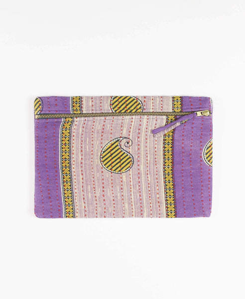 Anchal Project clutch made with repurposed vintage cotton sari fabric