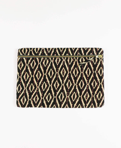 Anchal clutch made with repurposed vintage cotton sari fabric