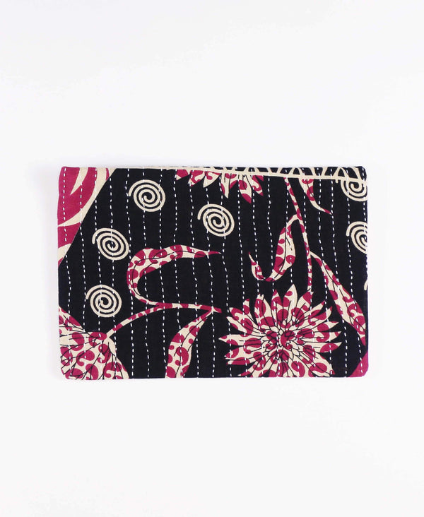Fair Trade and sustainably conscious canvas clutch made with repurposed vintage cotton sari fabric