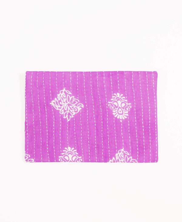 vintage cotton sari pouch made by Anchal artisans