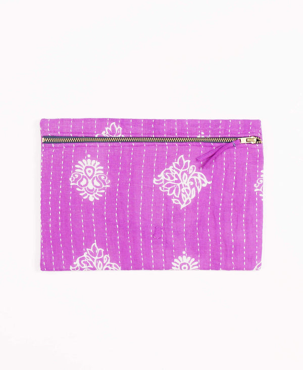 Anchal Project zippered pouch ethically made from vintage cotton saris