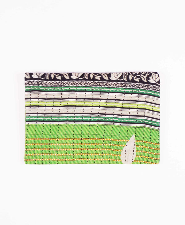 sustainable made cotton clutch with zippered closure