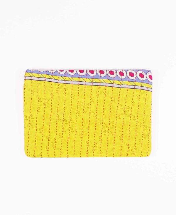 artisan made cotton clutch sustainably made from vintage cotton fabrics