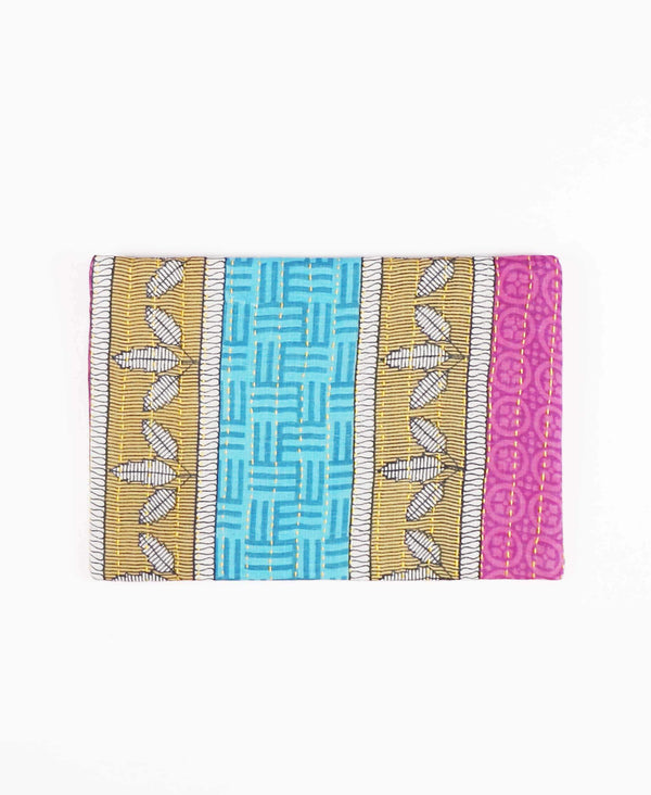 ethically made cotton zippered pouch made by women artisans