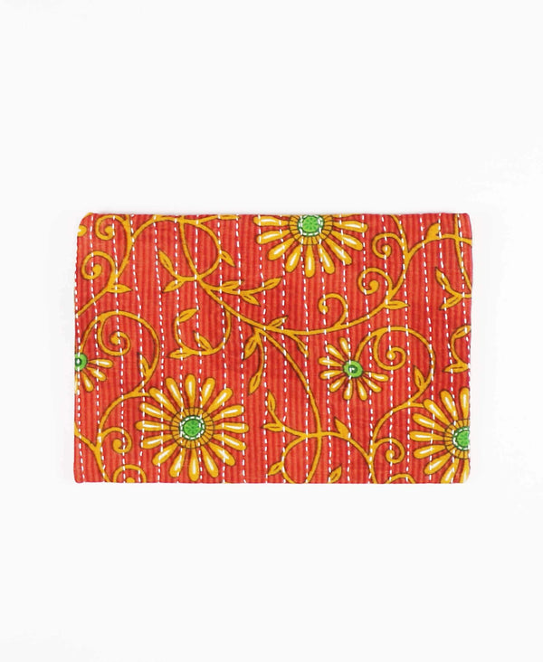 red floral pouch clutch by Anchal Project