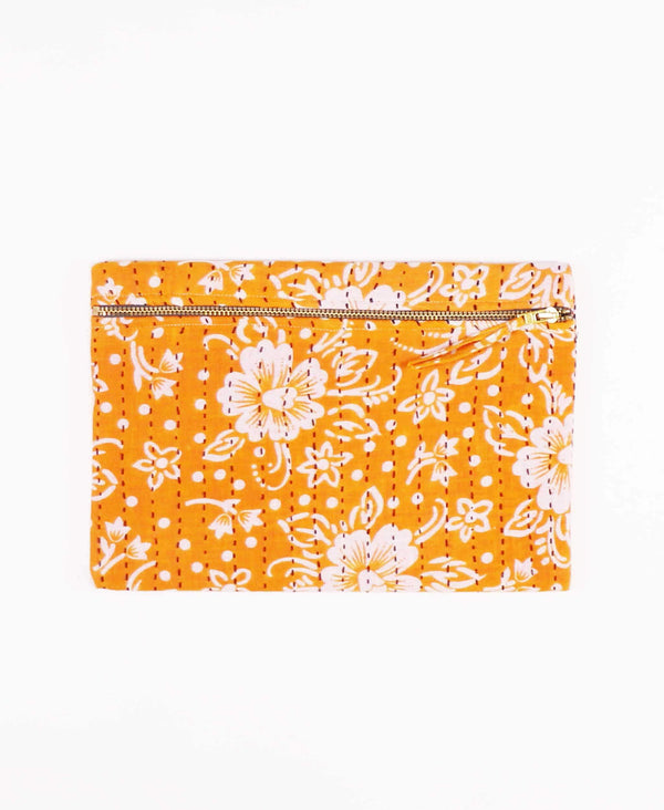 Anchal Project pouch clutch in orange floral