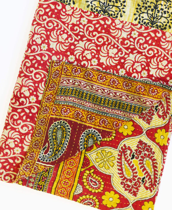 Anchal Project kantha throw hand-stitched by artisans in India