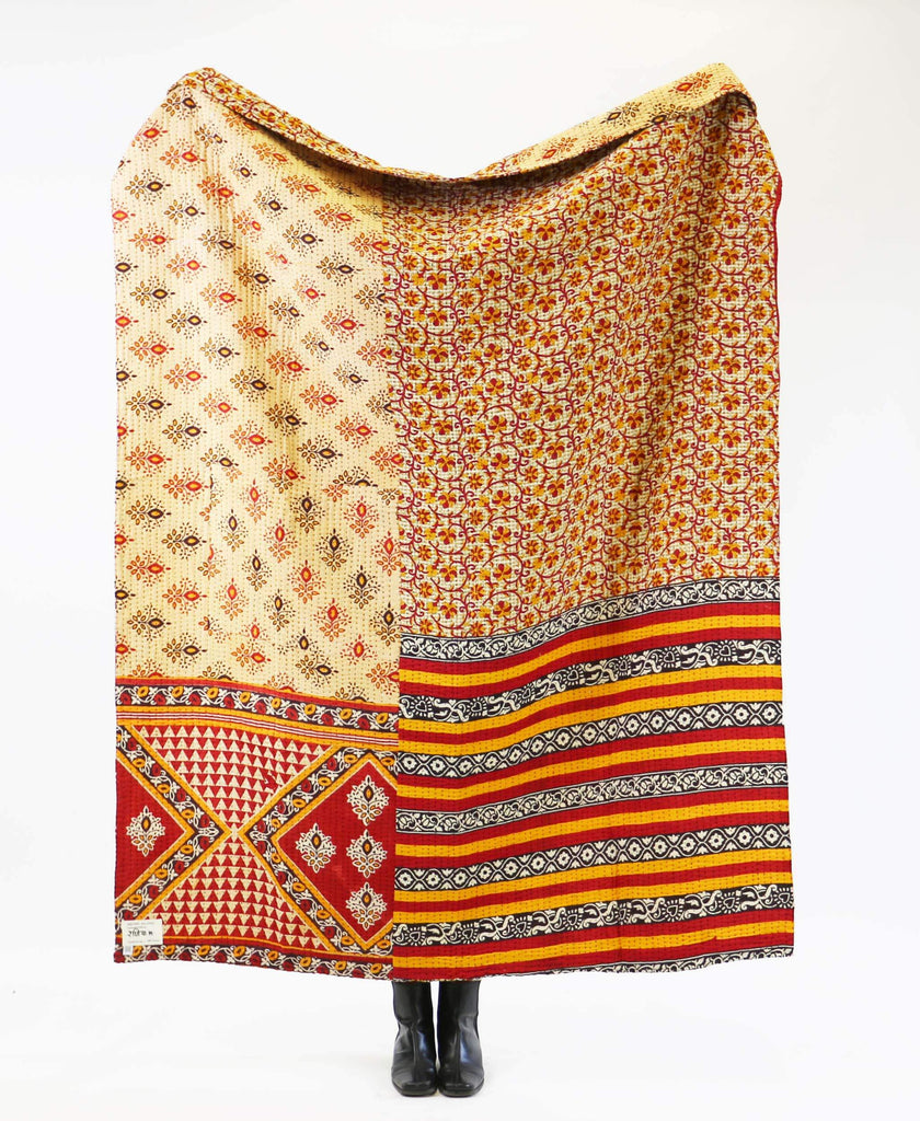 Kantha Quilt Throw - No. 190720