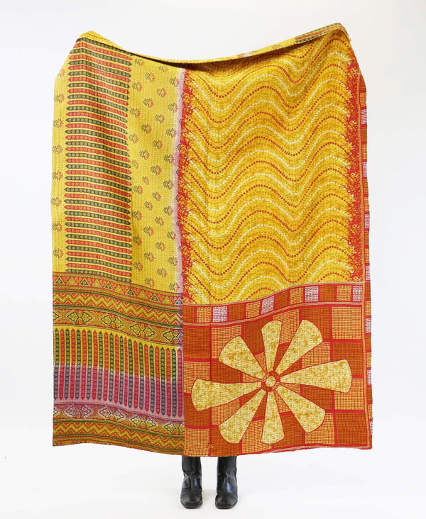 Kantha Quilt Throw - No. 190721