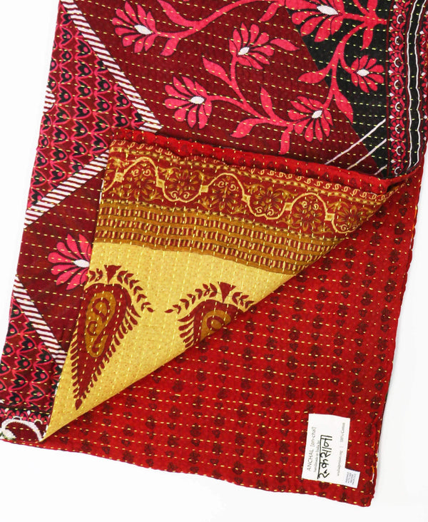 Kantha Quilt Throw - No. 190726