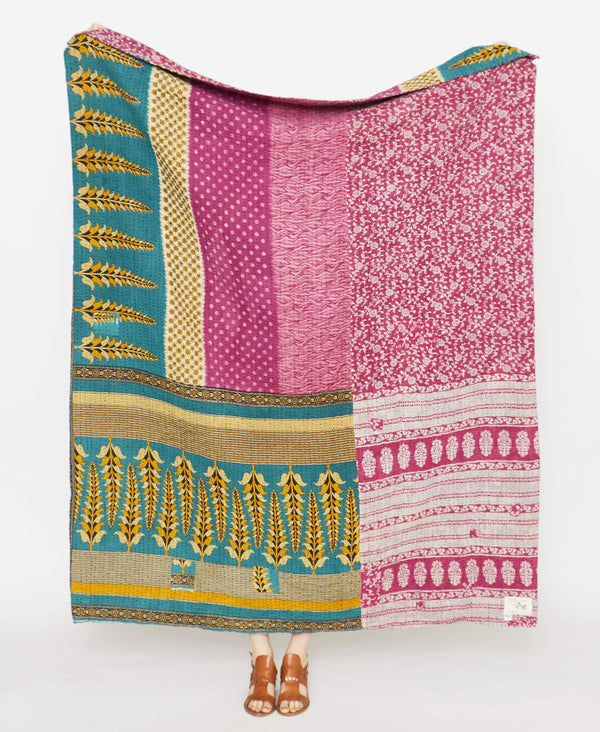 Kantha Quilt Throw - No. 190912