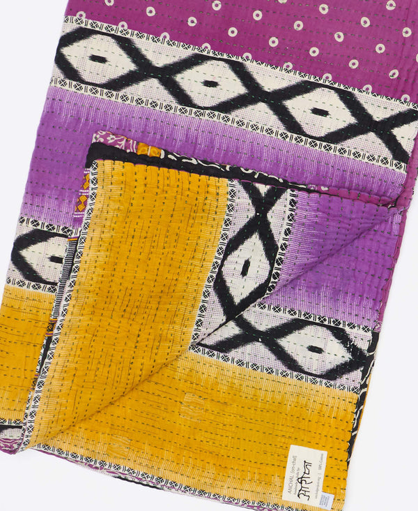 Kantha Quilt Throw - No. 190921