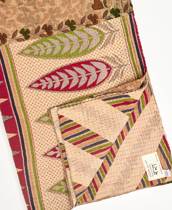 Kantha Quilt Throw - No. 200617