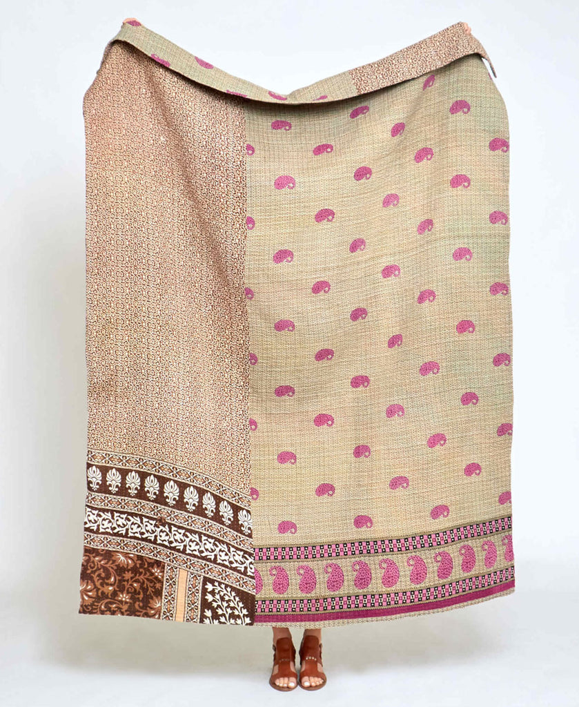Kantha Quilt Throw - No. 200621
