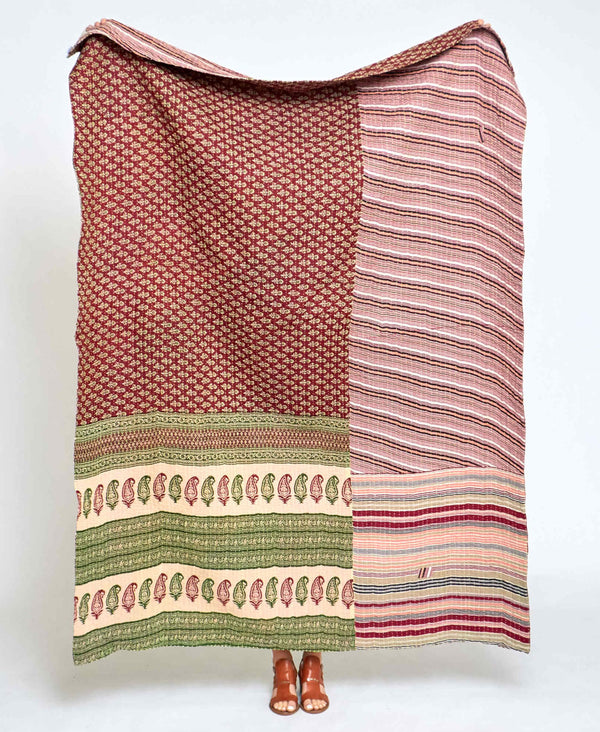 Kantha Quilt Throw - No. 210104