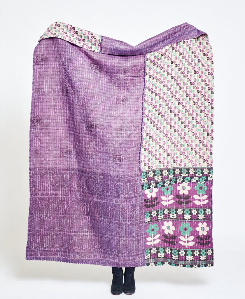 Kantha Quilt Throw - No. 210116
