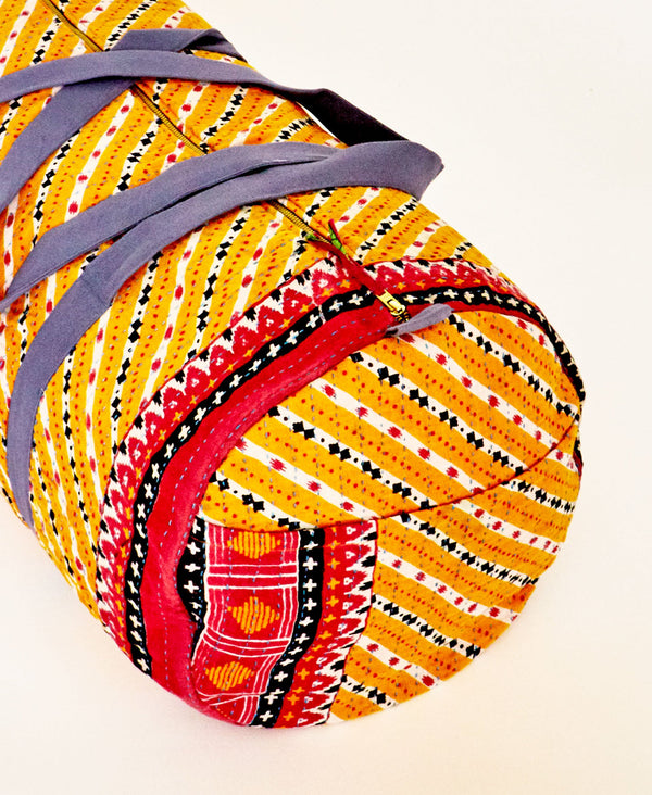 Anchal Project overnight bag made with vintage fabrics