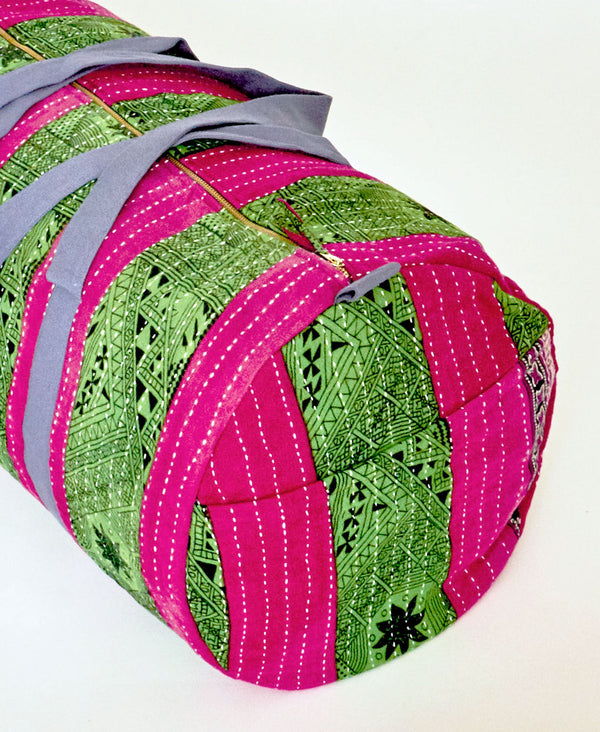 Anchal Project canvas lined duffle bag made with upcycled saris