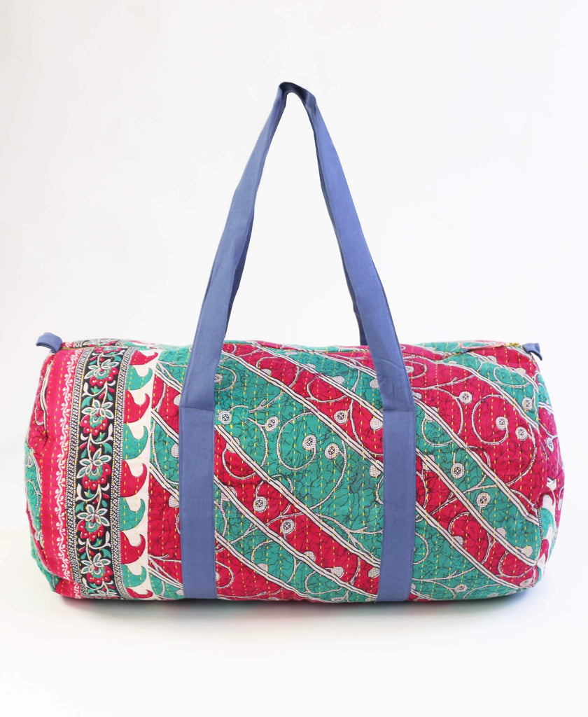 Anchal Project weekender duffle bag made from vintage saris