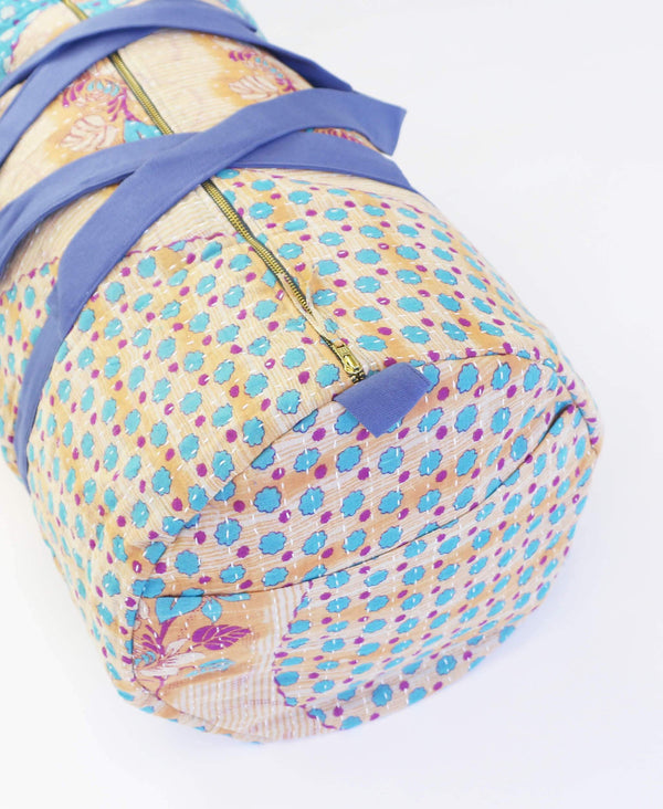 Anchal weekender bag made with repurposed vintage fabrics