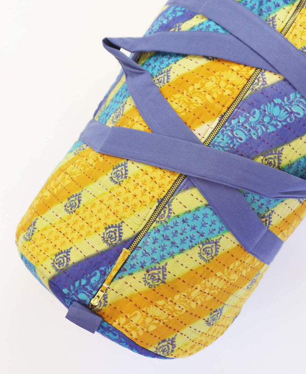 travel bag made from recycled vintage saris
