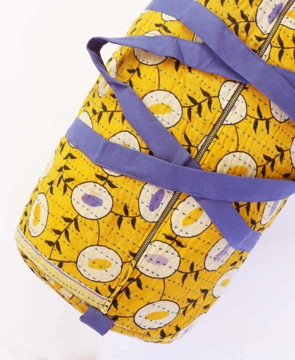 yellow vintage cotton duffle bag by Anchal Project