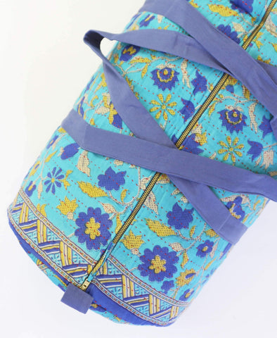 Fair Trade duffle bag made with sustainable and eco-friendly fabrics