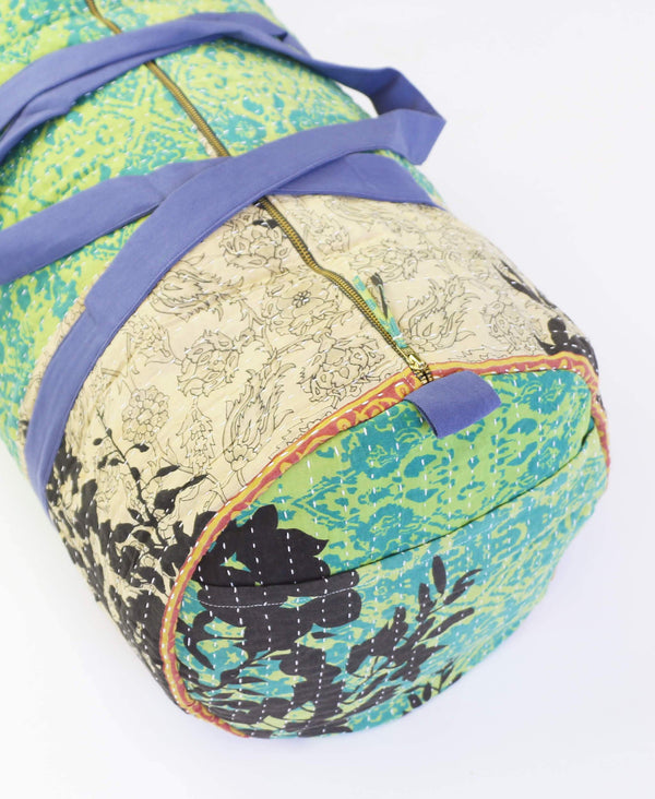 vintage kantha duffle bag made from recycled saris by Anchal Project