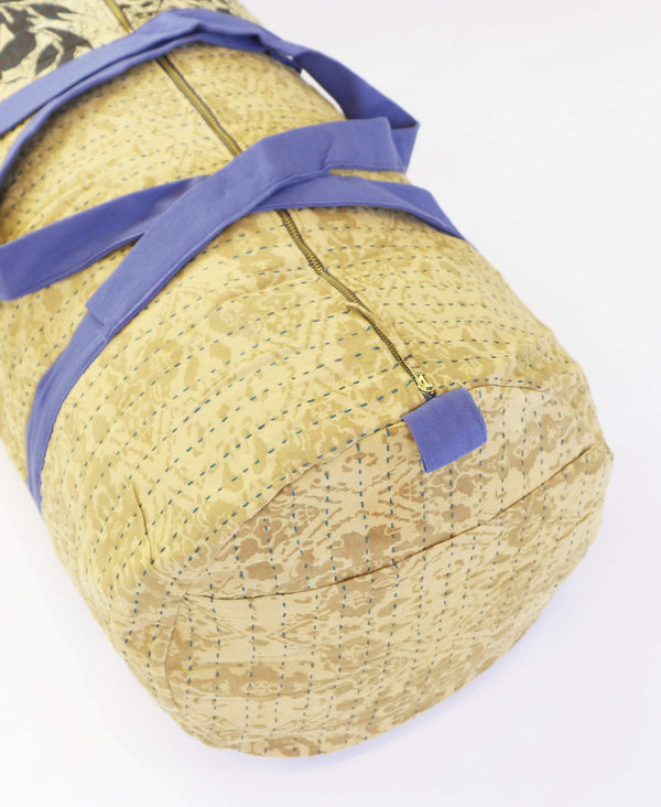 vintage kantha duffle bag made from recycled saris